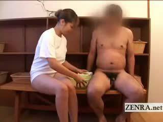 Spread Leg CFNM Japanese Changing Room Penis Washing