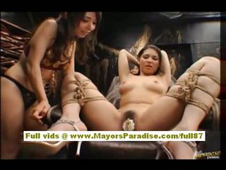 Maria ozawa and yuki osawa aziýaly dolls playing and licking amjagaz