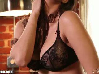 Sunny leone's 黑色 女用貼身內衣褲