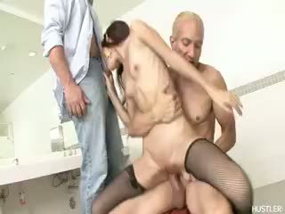 hottest brunette hq, check blowjob fun, threesome great