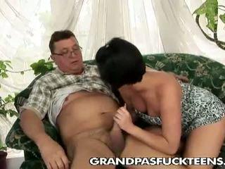 Grandpas Fuck Teens: Grand old mailman grabs a fresh cunt
