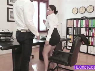 brunette, bigcock, kantoor