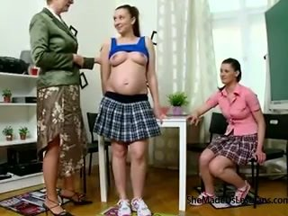 Pregnant student and her friend get ta...