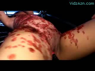 Handcuffed Girl Tortured With Hot Wax Getting Her Pussy Fingered Stimulated With Vibrators By 2 Guys In The Dungeon