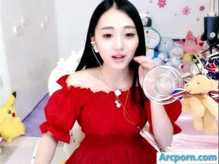 webbkameran, flicka, kinesiska