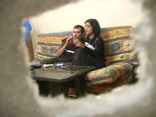 חובבן טורקי אישה עם רוסי אדם תוך hubby was משם