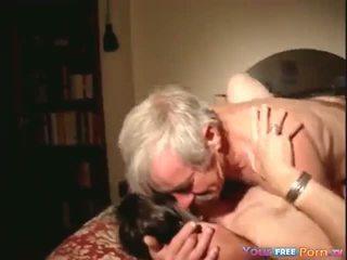 granny, blowjob, threesome