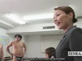Subtitled fvml japoneze schoolgirls lakuriq art klasë