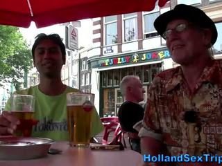 Blonde whore gives tourist bj