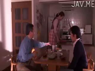 brünett, jaapani, lapsuke