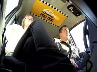 taxi, tsjekkisk, blond
