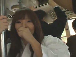 Veliko oprsje japonsko punca hitomi tanaka banged v javno