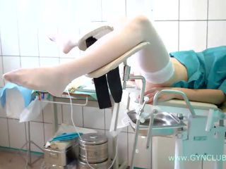 Teen girl on a gynecological chair. full inspection! (34)