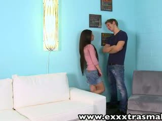 ExxxtraSmall Petite teen Lacie Channing wet pussy banged