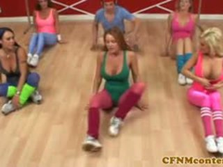 Cfnm femdoms labareala pula la aerobics