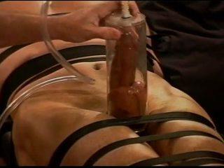 Cực vacuum pumping con gà trống và bóng tra tấn trên muscle guy