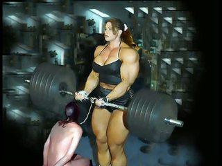 Female bodybuilding fbb bodybuilder bbw vrouwelijke dominantie