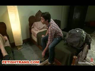 Ts Annalise Rose Tricks her Backpackin...
