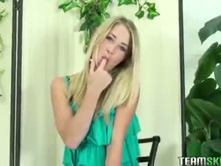 ThisGirlSucks blonde teen Casi James handjob blowjob cock facial