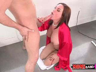 Abby menyeberang seks bertiga dengan dia bf langkah mama