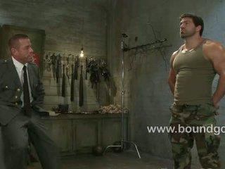 Tyler interrogates and fucks bound Vince