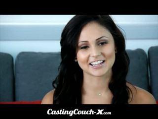 Κάστινγκ couch-x dumb φλόριντα κορίτσι loves να γαμώ επί σπέρμα