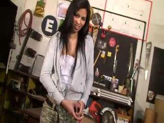 striptease, black-haired, solo girl, latin, latina