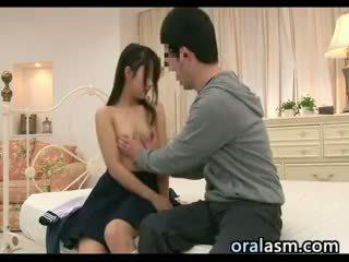 giapponese, massaggio, hardcore