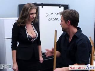 Stockinged cutie alex szansa nailed w the biuro