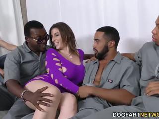 Sara jay gets ganbanged oleh hitam dudes