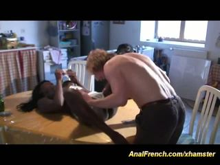 French African Babe Loves Deep Anal, F...