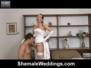 Mengen van edu, senna, alessandra door shemale weddings