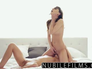 Young lesbian pussy play brings climax
