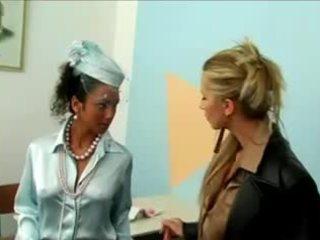 Satin Blouse Lesbian Threesome