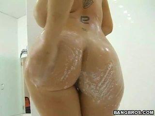 hardcore sex, büyük memeler, duş