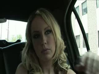 Blonde hooker penetrated over the limo