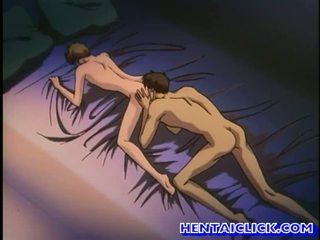 Anime homosexuální got jeho pants unbuttoned a fucked