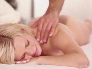 massage, betrug, frau