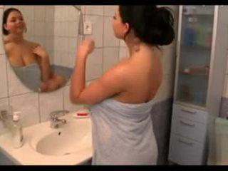 tieten, grote borsten, douches