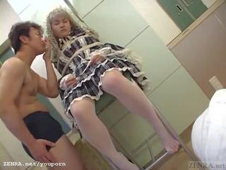 Subtitled japanisch schulmädchen verbunden und dressed wie ein puppe