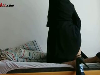 Niqab एनल solo पर सोफा