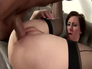 Mature french maid gets cumshot after hard fucking