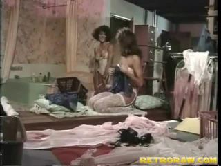 レズビアンのセックス, レズビアン, レトロなポルノ