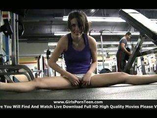 sport, jmenovitý tělocvična každý, nový samotné dívky skutečný