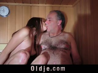 Oldguy Has a Sex Adventure with the Girl He Meets in.