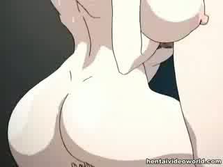 Loads de hentai jet de sperma turna afară de ei ambii holes