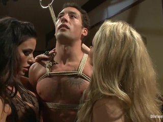 групов секс, cbt, строга господарка