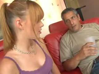 cô gái tóc vàng, cha, hardsextube