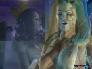 Geil 3d hentai aquaman fondles een rondborstig hottie