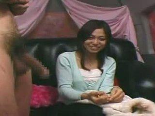 Cfnm Japanese Girl Watches Stranger Jerk Catches C